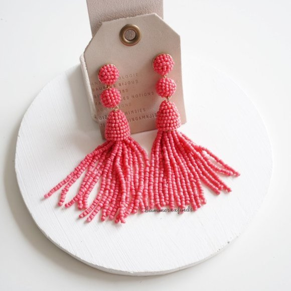 Anthropologie Jewelry - NWT Anthropologie Granita Beaded Tassel Earrings